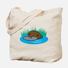 Silly Platypus in the Water Tote Bag