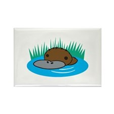 Silly Platypus in the Water Rectangle Magnet