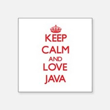 Keep calm and love Java Sticker