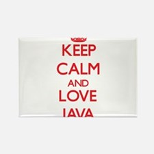 Keep calm and love Java Magnets