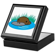 Silly Platypus in the Water Keepsake Box