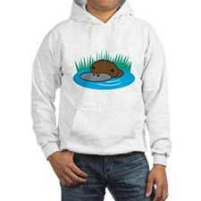 Silly Platypus in the Water Hoodie