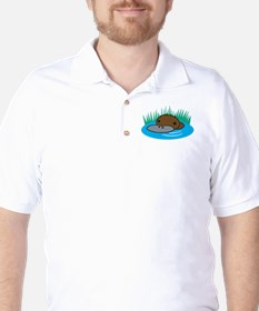 Silly Platypus in the Water Golf Shirt