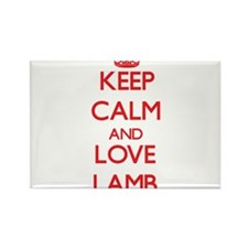 Keep calm and love Lamb Magnets
