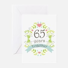 65th Anniversary flowers Greeting Cards (Pk of 20)