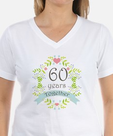 60th Anniversary flowers an Shirt