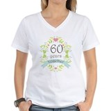 60th wedding anniversary Womens V-Neck T-shirts