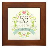 55th wedding anniversary Framed Tiles