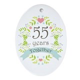 55th wedding anniversary Ornaments