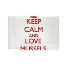 Keep calm and love Mussels Magnets