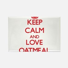 Keep calm and love Oatmeal Magnets