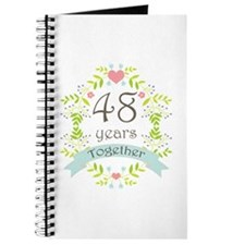 48th Anniversary flowers and hearts Journal