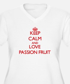 Keep calm and love Passion Fruit Plus Size T-Shirt