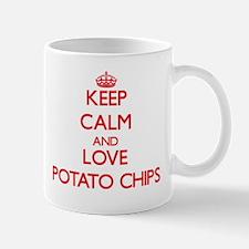 Keep calm and love Potato Chips Mugs
