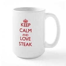 Keep calm and love Steak Mugs