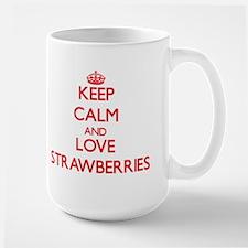 Keep calm and love Strawberries Mugs