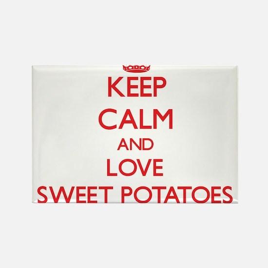 Keep calm and love Sweet Potatoes Magnets