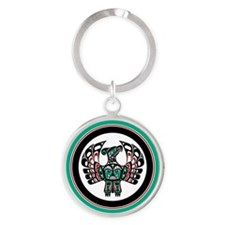 Haida Thunderbird green button Keychains