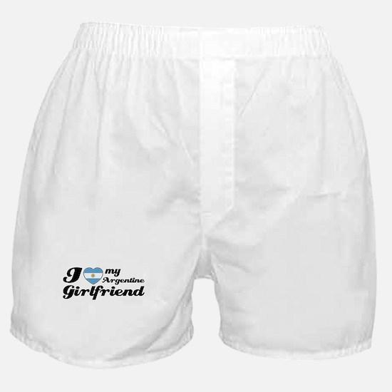 I love my Argentine girlfriend Boxer Shorts