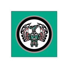 Haida Thunderbird green button Sticker