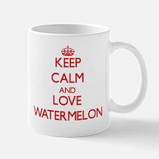 Keep calm and love Watermelon Mugs