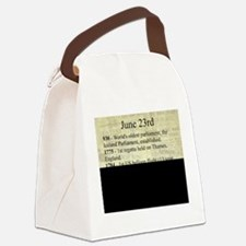 June 23rd Canvas Lunch Bag