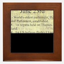 June 23rd Framed Tile