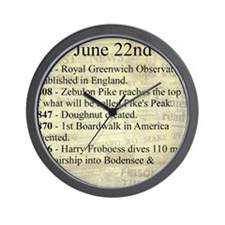 June 22nd Wall Clock
