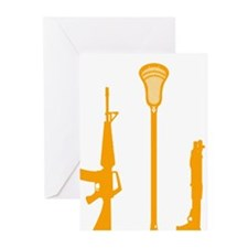 Lacrosse_Weapons_2_600 Greeting Cards