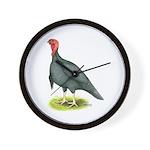 Blue Slate Tom Turkey Wall Clock
