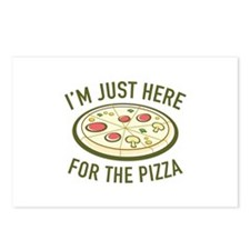 I'm Just Here For The Pizza Postcards (Package of