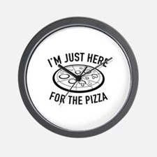 I'm Just Here For The Pizza Wall Clock