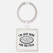 I'm Just Here For The Pizza Square Keychain