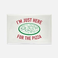 I'm Just Here For The Pizza Rectangle Magnet (100