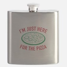 I'm Just Here For The Pizza Flask