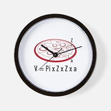 Pizza Equation Wall Clock
