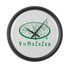 Pizza Equation Large Wall Clock