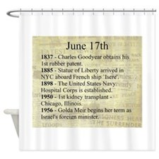 June 17th Shower Curtain