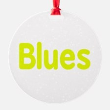 Blues word yellow music design Ornament