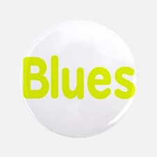 """Blues word yellow music design 3.5"""" Button (100 pa"""