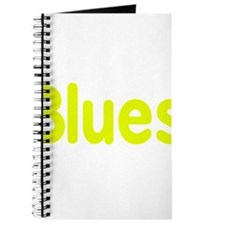 Blues word yellow music design Journal