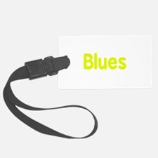 Blues word yellow music design Luggage Tag