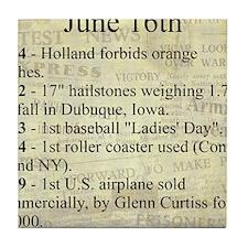 June 16th Tile Coaster
