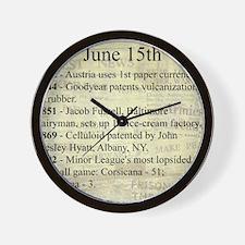 June 15th Wall Clock