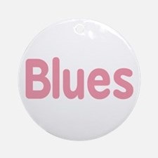 Blues word pink music design Ornament (Round)