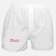 Blues word pink music design Boxer Shorts