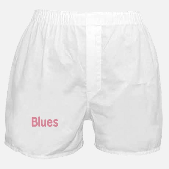 Blues word pink music design Boxer Shorts