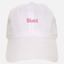 Blues word pink music design Baseball Baseball Baseball Cap