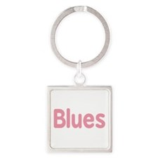 Blues word pink music design Keychains