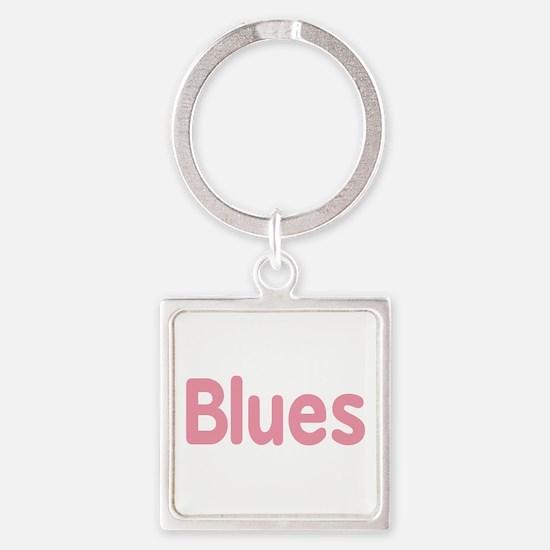 Blues word pink music design Keychains
